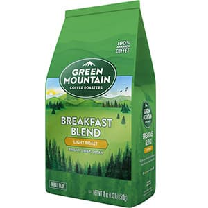 Green Mountain Coffee Roasters Breakfast Blend, Whole Bean Coffee, Light Roast